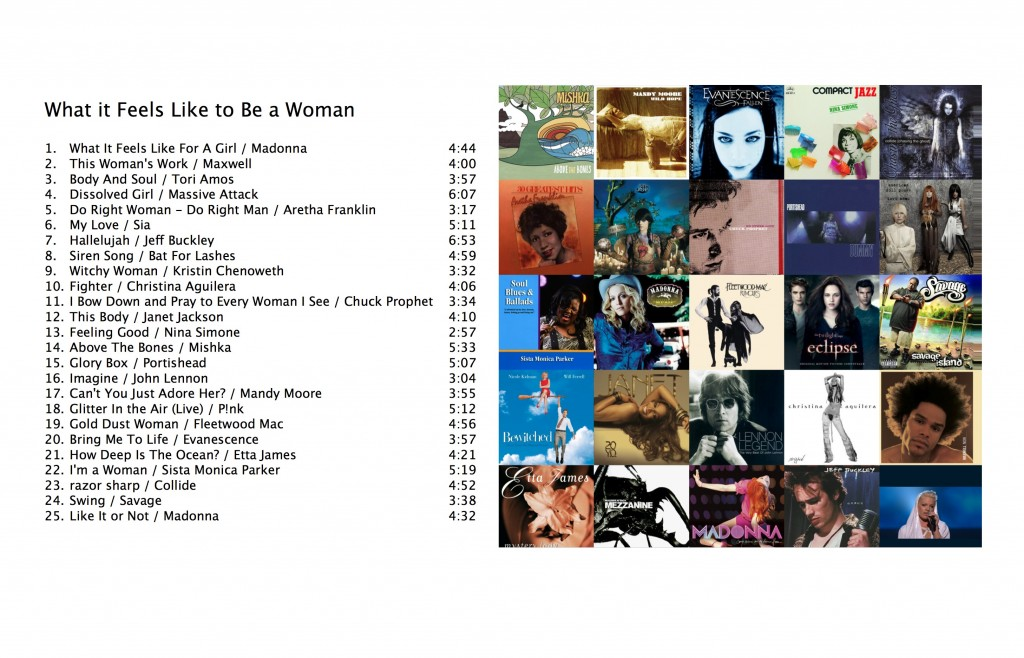 Songs celebrating what it feels like to be a woman