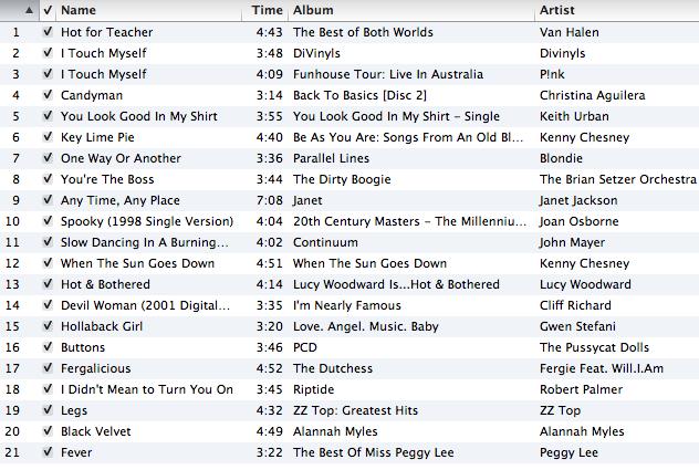 Lap Dance Songs